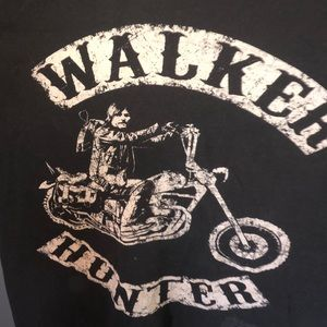 Black walker hunter tee shirt